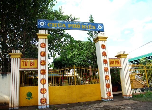 Đăk Lăk: Lịch sử Chùa Phổ Hiền tọa lạc tại Thành phố Buôn Ma Thuột.
