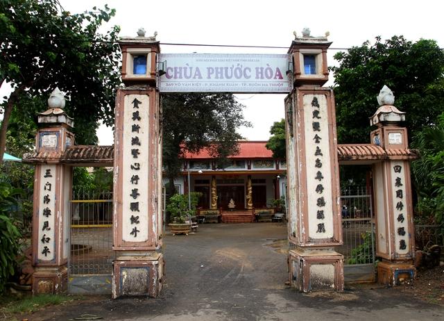 Đăk Lăk: Lịch sử Chùa Phước Hòa tọa lạc tại Thành phố Buôn Ma Thuột