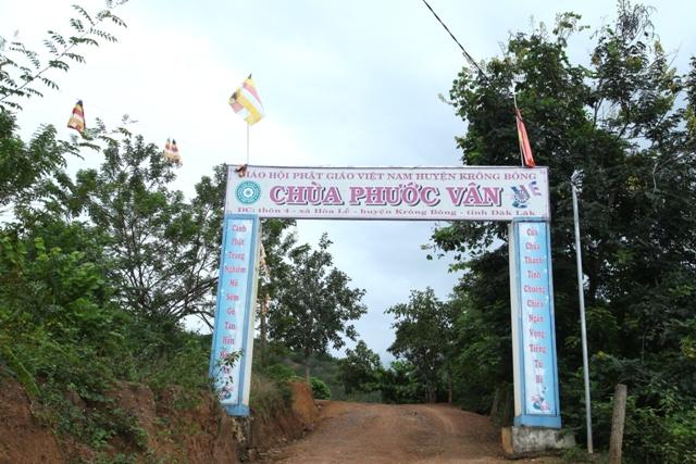 Đăk Lăk: Lịch sử Chùa Phước Vân tọa lạc tại huyện Krông Bông