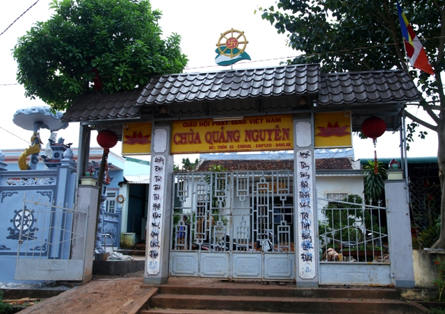 Đăk Lăk: Lịch sử Chùa Quảng Nguyên tọa lạc tại huyện EaHleo