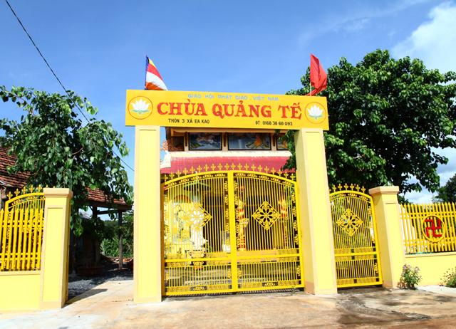 Đăk Lăk: Lịch sử Chùa Quảng Tế tọa lạc tại Thành phố Buôn Ma Thuột.