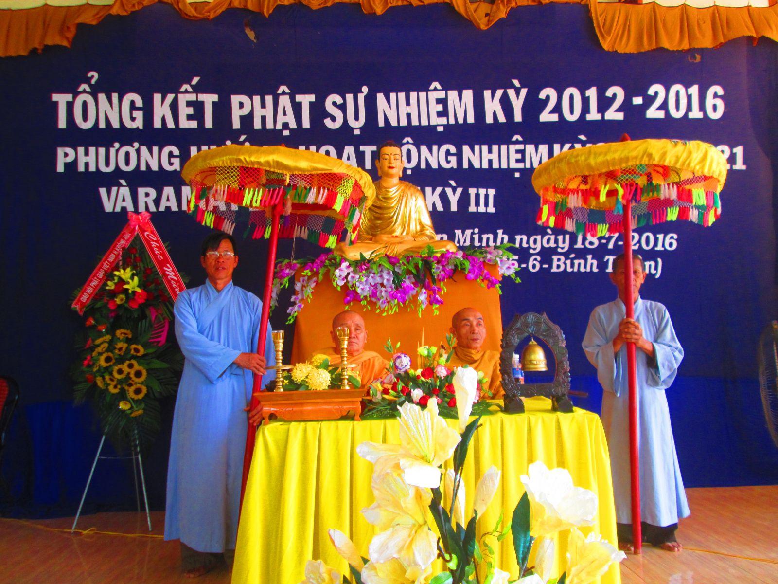 Hội nghị tổng kết Phật sự nhiệm kì 2012 - 2017 của NPĐ Thiện Minh xã Bình Hòa - huyện Krông Ana