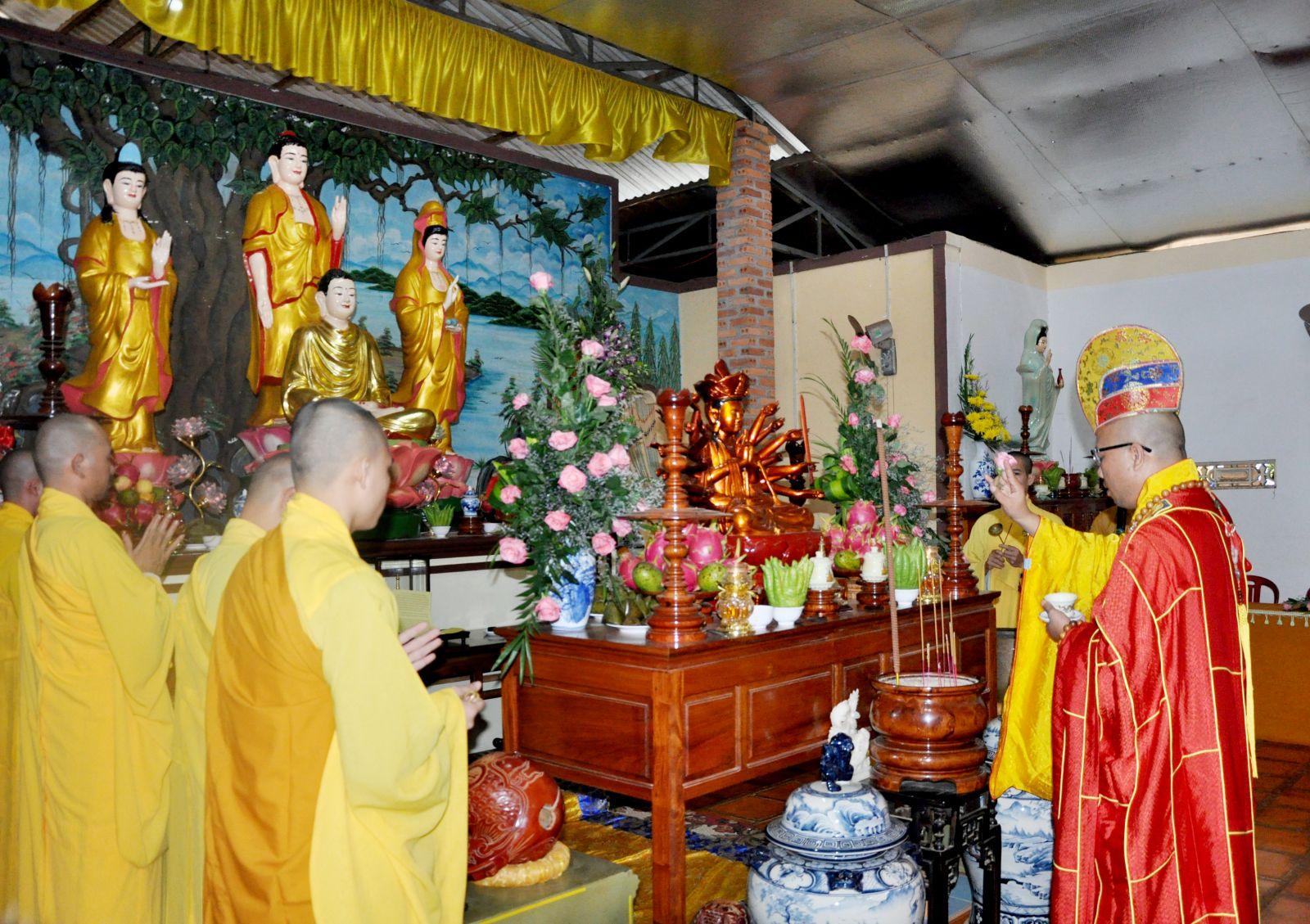 Lễ Tác Pháp mãn Hạ An cư PL 2560 và Đại lễ Vu lan được tổ chức tại trường Hạ chùa Kim Quang