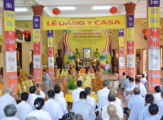 Tịnh xá Ngọc Quang-TP. Buôn Ma Thuột tổ chức Lễ dâng pháp y Ca sa trong mùa An cư Kiết hạ PL 2560 – DL 2016.