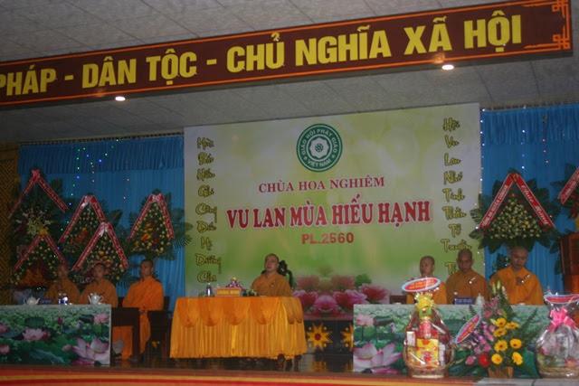 Đại lễ Vu Lan năm 2016 – Phật lịch 2560 tại chùa Hoa Nghiêm CưMgar