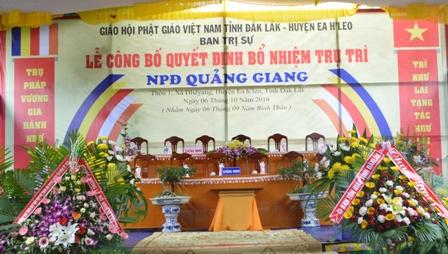 Lễ Bổ Nhiệm Trụ Trì NPĐ Quảng Giang-Xã Đliêyang-Huyện Ea H'leo