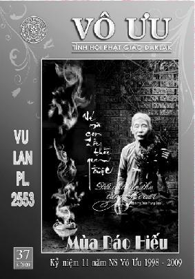 Tập San Vô Ưu số 37 - Vu Lan Mùa Báo Hiếu 2553
