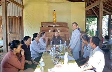 GĐPT Đắk Lắk tham quan nơi tổ chức trại huấn luyện Liên trại Lộc Uyển – A Dục