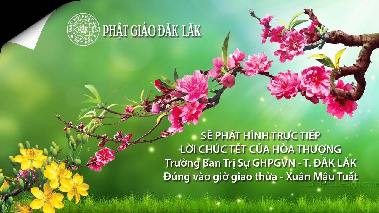 Phát trực tiếp lời chúc Tết của HT Trưởng ban trị sự tỉnh Đăk Lăk